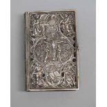 Altes Buch im Silber-EinbandSakral verzierter Einband Silber 800, am Buchrücken mit Feingehalt,