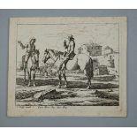 Jeremias Wolff, 1663 Augsburg - 1724 ebendaRadierung/Papier. Zwei Reiter beim Austausch von