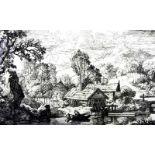 Christian Wilhelm Ernst Dietrich, 1712 Weimar - 1774 DresdenRadierung/Papier. Landschaft mit