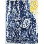Jörg Immendorff1945 Bleckede/Elbe - 2007 DüsseldorfDialektik der GötterColor linocut on paper, 1986;