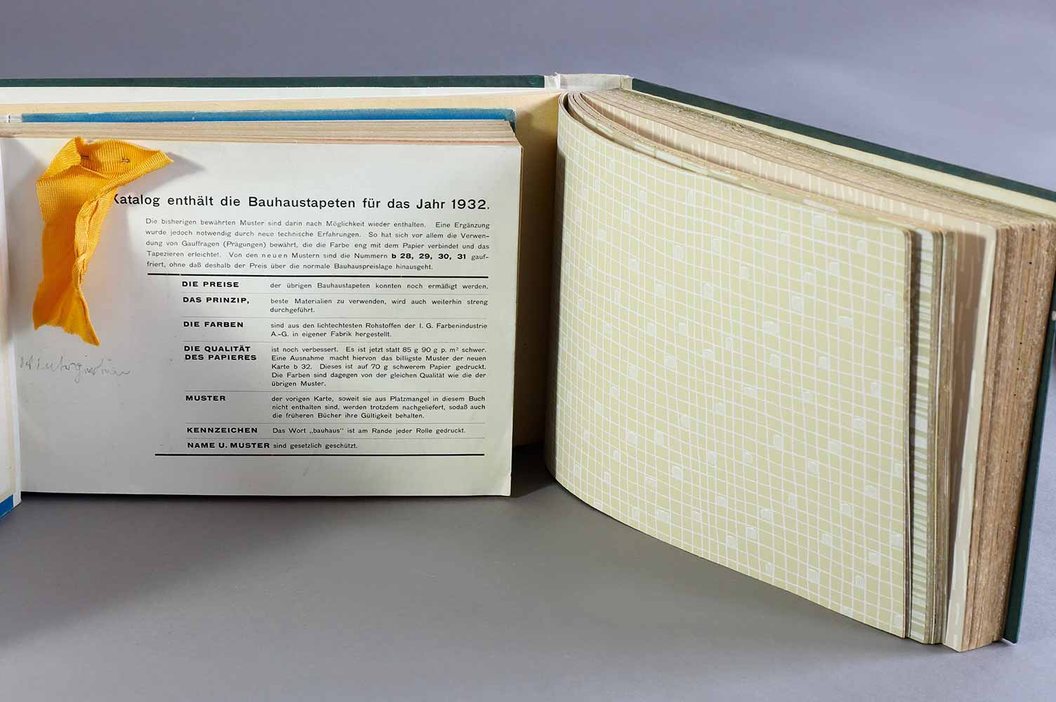 Lot 360 - Rasch2 Bauhaus wallpaper pattern books, 1932 and anniversary issue 1956, Tapetenmusterbücher1932 and