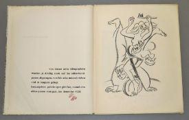 """Rudi Baerwind, """"zehn steinzeichnungen"""", Mappe mit 10 Lithographien, 1948 Rudi Baerwind, 1910"""