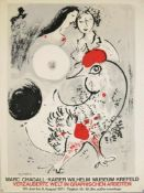 "Marc Chagall, Ausstellungsplakat Krefeld 1971, Siebdruck Marc Chagall, 1887 – 1985, ""Verzauberte"