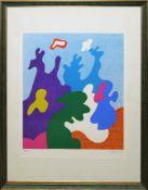 Otmar Alt, Organische Strukturen, sign. Farbserigraphie von 1971, gerahmt Otmar Alt, *1940,