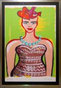 """Elvira Bach, """"Kopfschmerz"""", sign. Lithographie von 1996, gerahmt Elvira Bach, *1951,"""