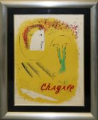 Marc Chagall, Affiche d'Exposition, Farblithographie, gerahmt Marc Chagall, 1887 – 1985,