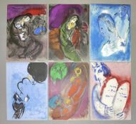 "Marc Chagall, 6 Farblithographien aus ""La Bible"", Verve, 1956 Marc Chagall, 1887 – 1985, Moses"
