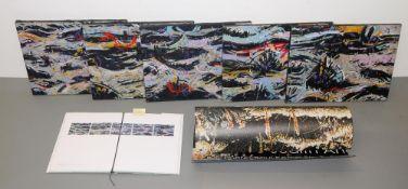 """Mahmut Celayir, """"Manzara"""", 5 abstrakte Landschaften, Serie von 5 Ölgemälden von 1994 &"""
