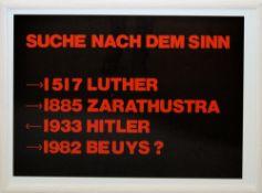 """Joseph Beuys, """"Suche nach dem Sinn"""", sign. Farbserigraphie von 1982, gerahmt Joseph Beuys, 1921 –"""