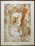 """Rudi Baerwind, """"Farbe im Fluss"""", sign. Mischtechnik von 1972, gerahmt Rudi Baerwind, 1910 Mannheim –"""