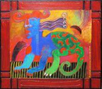 """Clemens Briels, """"Image des souvres incomnes I"""", sign. Ölgemälde von 2007 mit integriertem Rahmen"""