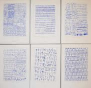 "Andrea Branzi, Mappe ""Genetic Tales"": Groups & Crowds, 6 sign. Serigraphien von 1998, o. Rahmen"