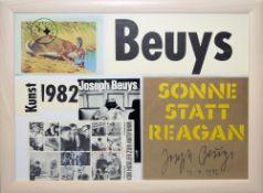 """Joseph Beuys, Vinylplatte """"Sonne Statt Reagan"""" & """"Von Hodler zur Antiform"""", sign., gerahmt Joseph"""