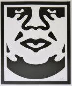 "Shepard Fairey, ""Visage"", signierte Serigraphie, o. Rahmen Shepard Fairey, *1970, ""Visage"", Rundes"