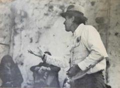 Joseph Beuys, Selbstbildnis mit Hut, signierte Offsetlithographie von 1978, o. Rahmen Joseph