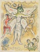 """Marc Chagall, """"Eupeithes"""", aus: L'Odyssee II, Farblithographie von 1975 mit Gefälligkeitssignatur"""
