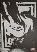 Shepard Fairey, Obey Ripped, Lithographie, o. Rahmen Shepard Fairey, *1970, Obey Ripped, Zerrissenes