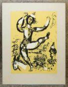 Marc Chagall, zwei Zirkusszenen, Farblithographien, gerahmt Marc Chagall, 1887 – 1985, Tanzende