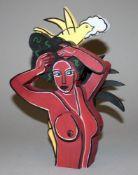 Corneille, Frauenakt mit Vogel, Skulptur/ Multiple, im Originalkasten Corneille, 1922 Lüttich – 2010