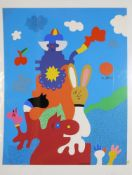 Otmar Alt & Karl Brandstätter, große Farbserigraphie, individuell bemalt & große Farbradierung,