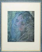 Helmut Butzbach, Portraits & Informell, 3 Aquarell/Mischtechnik, gerahmt Helmut Butzbach, *1938
