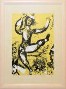 """Marc Chagall, """"Le Cirque"""", Farblithographie von 1960, gerahmt Marc Chagall, 1887 – 1985, Clown und"""