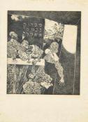 "Albin Brunovsky, ""Mene mene tekel ufarsin"", signierte Radierung von 1966 Albín Brunovský, 1935 Zohor"