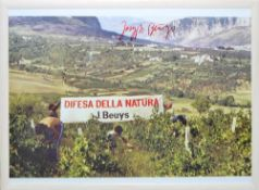 "Joseph Beuys, ""Difesa della Natura"", signierte Farboffsetlithographie von 1984, gerahmt Joseph"