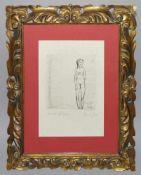 """Josef Steiner, """"Krankes Mädchen"""", Radierung, um 1921, gerahmt Josef Steiner, 1899 – 1977,"""
