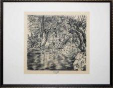 """Josef Steiner, Landschaften und Wälder, 3 Radierungen, gerahmt Josef Steiner, 1899 – 1977, """"Drei"""