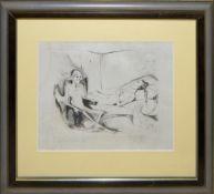 Josef Steiner, Der wartende Tod, Radierung um 1927, gerahmt Josef Steiner, 1899 – 1977,