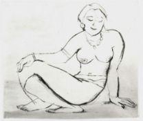 """Josef Steiner, """"Porträt der kleinen Künstlertocher"""", """"Sitzender Frauenakt"""", """"Die Dicke am"""