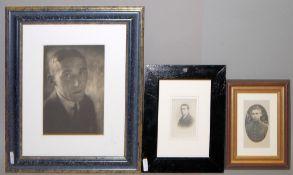 Josef Steiner, Porträt-Photographien des jungen Steiner zwischen 1918 und 1921, 3 Photographien,