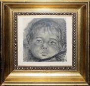 Josef Steiner, Drei Kinderportraits, 2 Radierungen u. 1 Kohlezeichnung von 1925, gerahmt Josef