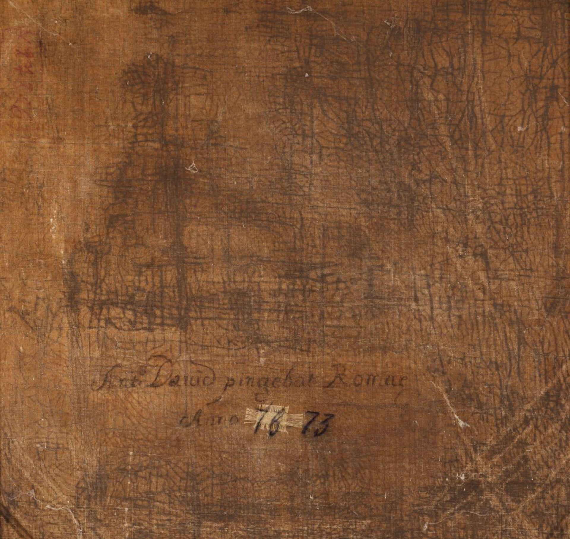 Italien, 18. Jh., Umkreis Antonio David, um 1684 Venedig - ca. 1735 Rom.Brustporträt in Kürass, wohl - Bild 2 aus 2