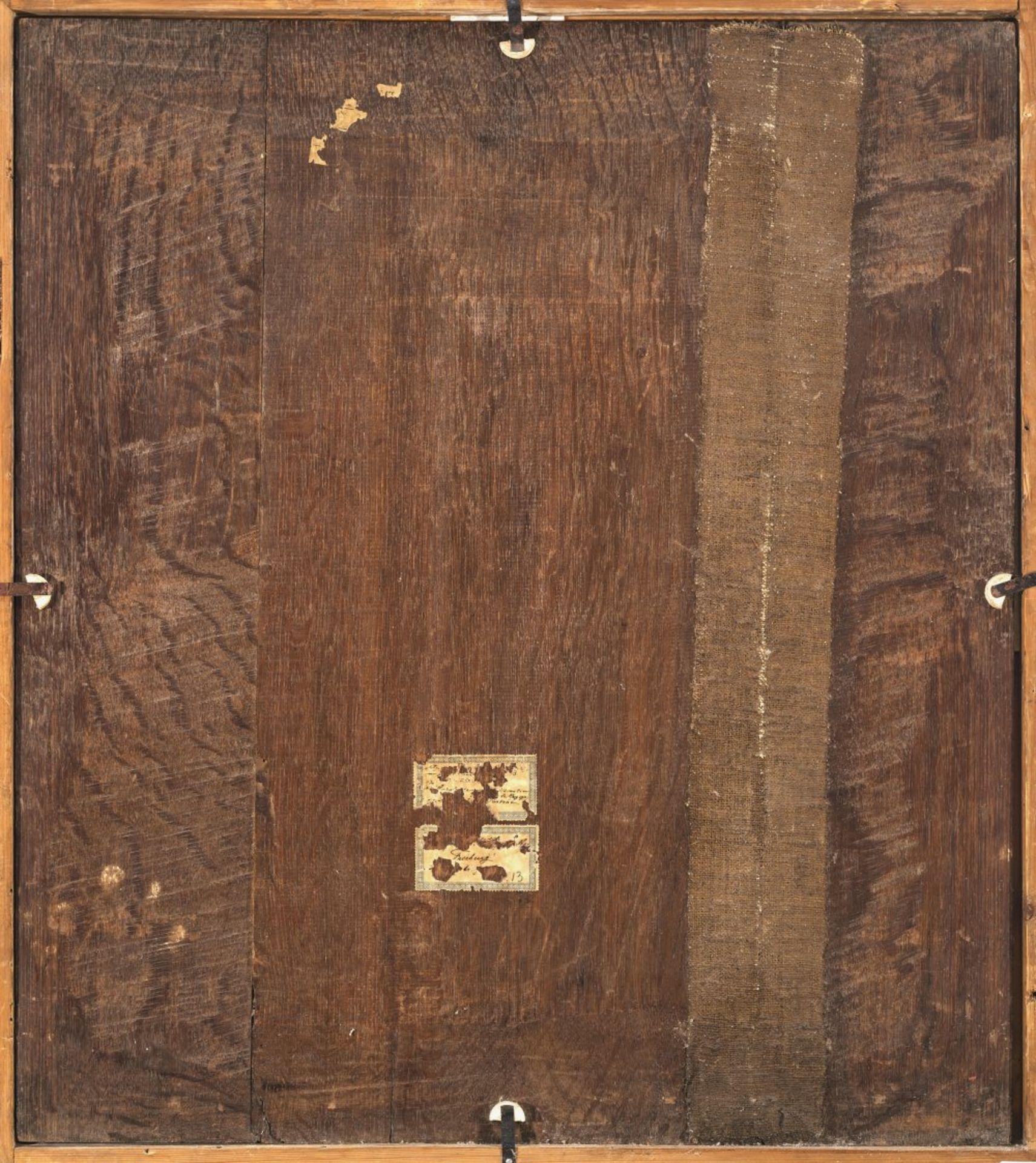 Cuyp, Jacob Gerritsz, UmkreisBrustporträt einer Dame mit Mühlsteinkragen und Haube. Öl/Holz. 69,5 - Bild 2 aus 2