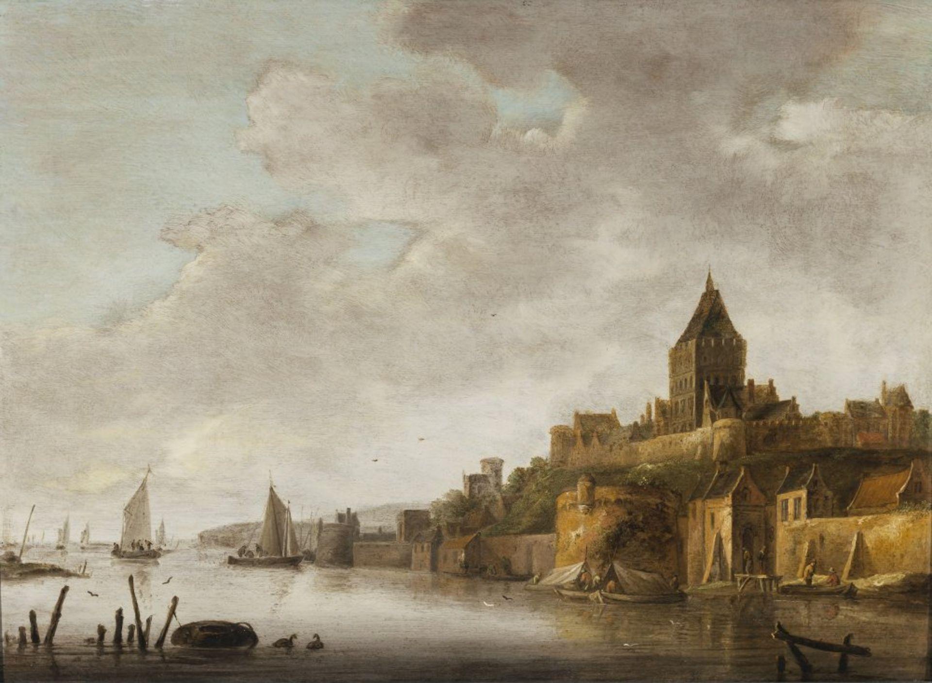 Dalens, Dirk, zugeschriebenDer Valkhof von Nijmegen. Diagonal von rechts in die Bildtiefe