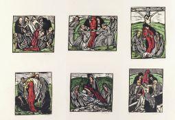 Bizer, EmilMappe mit 6 Original Holzschnitten. Je ca. 12,4 x 16,3 cm. Gesamtauflage der Mappe 25