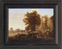 Both, Jan, zugeschriebenBlick auf die Ponte Lucano über den Anio bei Tivoli, im Vordergrund Gruppe
