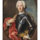 Italien, 18. Jh., Umkreis Antonio David, um 1684 Venedig - ca. 1735 Rom.Brustporträt in Kürass, wohl