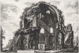 Piranesi, Giovanni BattistaTempel der Minerva Medica. Kupferstich. 46,5 x 69,5 cm.