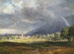 Andersen-Lundby, Anders, zugeschriebenBlick auf Niederaudorf, mit Benediktbeuern im Hintergrund.