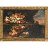 Italien, 18./19. Jh.Stillleben mit Früchten. Öl/Lw. 84 x 120 cm. Doubl., rest. Unsign.Italy, 18th/
