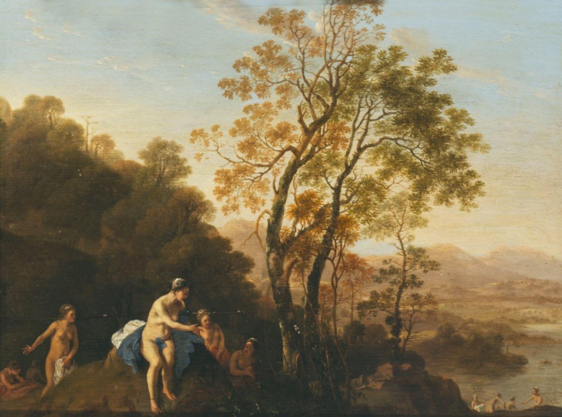 Lisse, Dirk van derDiana mit Nymphen in arkadischer Landschaft. Der holländische Maler und