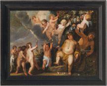 Willaerts, Abraham, zugeschriebenFröhliche, Wein trunkene Bacchanten und Satyr unter