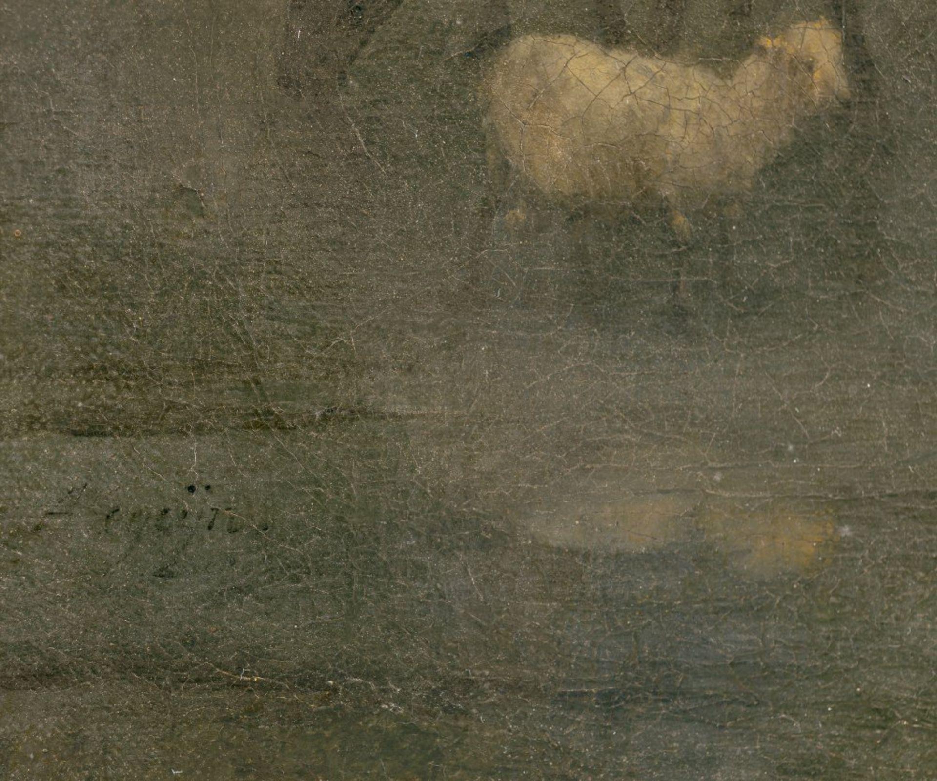 Begeyn, AbrahamHirten mit ihren Tieren vor alter Festung. Öl/Lw. 62 x 55 cm. Craquelé, rest., doubl. - Bild 2 aus 2
