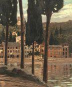 Cairati, GerolamoToskana Landschaft. Öl/Lw. 59 x 48 cm. Sign., dat. 1907.