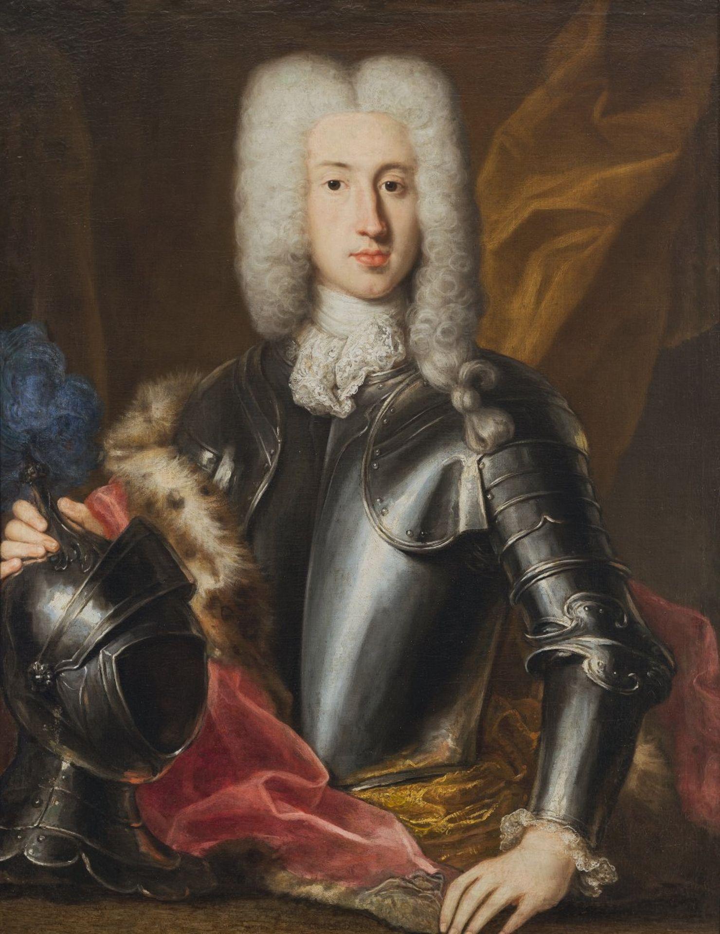 Frankreich, 17. Jh.Porträt eines Fürsten in Rüstung. Öl/Lw. 94 x 74 cm. Rest., doubl. Unsign.France,
