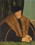 Cranach der Ältere, Lucas, Umkreis15./16. Jh. Porträt eines höfischen Herrn mit Pelzschaube und