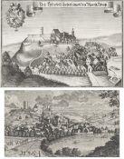Zwei KupfersticheAnsichten von Bad Abbach/Niederbayern. Georg Christoph Kilian bzw. Michael